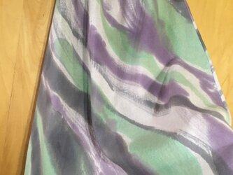 手描き染め 日本製リネンスカート 『風薫る』▫︎受注制作▫︎の画像