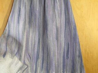 手描き染め 日本製リネンスカート 『shizuku』▫︎受注制作▫︎の画像