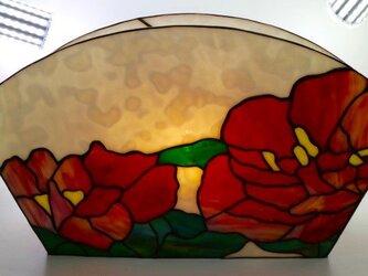 ステンドグラス照明 フロワーランプ『牡丹』の画像