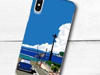 湘南イラスト スマホケース(ハードケース型)iPhone&Android対応 鎌倉高校前踏切とワーゲンのイラスト♪の画像