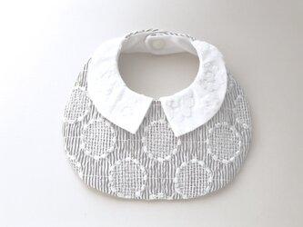 お花柄衿つきサークル刺繍スタイの画像