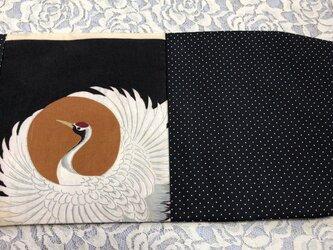 ブックカバー 文庫本用  モノトーン鶴の画像