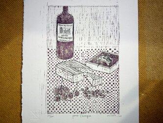 版画【ワインとチーズ・ポンレヴェック】の画像