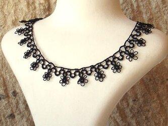 【冬色5色】タティングレースのネックレス「小花」の画像