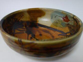 鉄絵しゃく掛け中鉢の画像