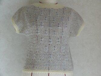 《値下しました》ビーズをさりげなく使ったフレンチ袖のセーターの画像