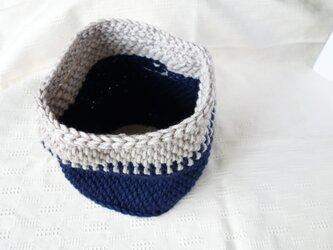 ■受注制作■アフガン編みスヌード / deep blueの画像