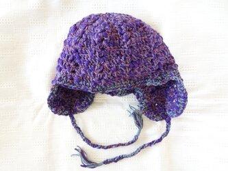 ■受注制作■ニット帽 for purple loverの画像