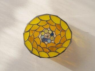 キイロ花 壁掛けランプの画像