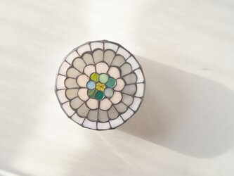 シロ花 壁掛けランプの画像