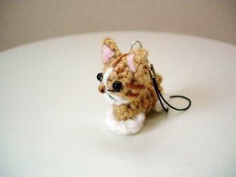 猫ストラップ(茶トラ)の画像