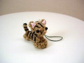 SOLD猫ストラップ(キジトラ)の画像