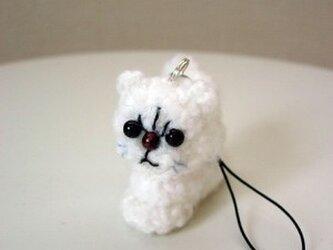 猫ストラップ(チンチラ)の画像