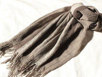 2種のヤクを使ったマフラー  幅広め  手織りの画像