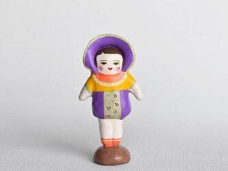 文化人形らしきひと(むらさきボンネット)の画像