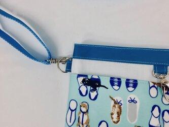 ポケットオーガナイザー 専用ストラップブルー 長さ調節可能[看護・介護・保育]の画像
