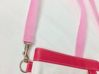 ポケットオーガナイザー 専用ストラップピンク 長さ調節可能[看護・介護・保育]の画像