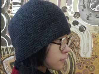 カシミアの手編帽子の画像