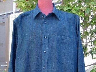 古布の柔らかいメンズシャツL寸相当 送料無料の画像