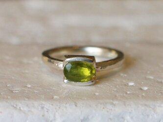 シンプル*天然グロッシュラー・ガーネット 指輪*10号 SVの画像