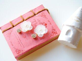 花香の輝くイヤリングの画像