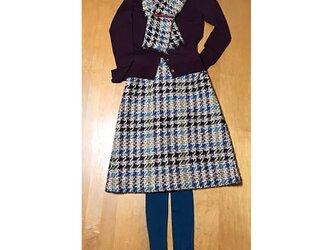 イタリー製アルパカ混ツイードスカート(ストール付き)の画像