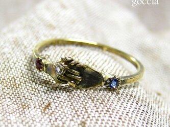 K18ゴールド。婚約リング(フェデリング)、約束のリング。の画像