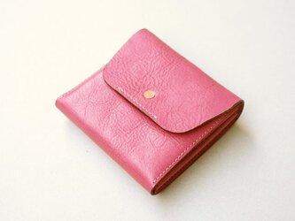 スクエア財布 PINK (牛革)の画像