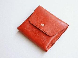 スクエア財布 RED (牛革)の画像