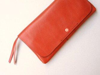 やわらかい革の長財布 RED(牛革)の画像