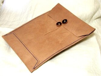 床革のマニラ封筒v2.1 A4ファイル対応の画像
