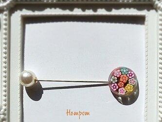 【送料無料】カラフルフラワーのハットピン ホムポムの画像