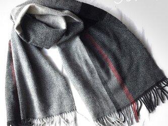 手織りカシミアマフラー マニッシュの画像