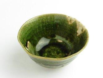 織部 鉄絵飯碗④の画像