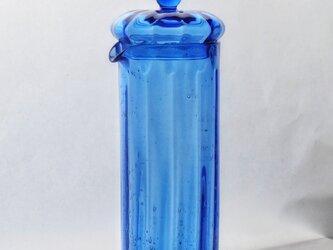 コバルトブルーのガラスピッチャーの画像