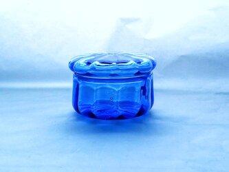 一点物★コバルトブルーのガラスの箱の画像