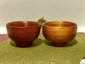吉野杉の旬のお茶碗&お椀セットの画像