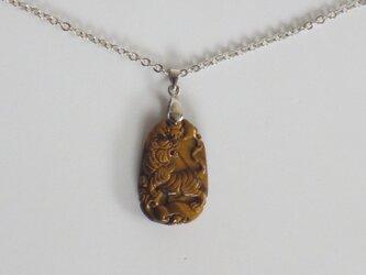 タイガーアイ(虎) ネックレスの画像