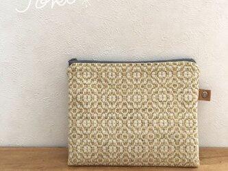 pouch[手織り小さめポーチ]イエローの画像
