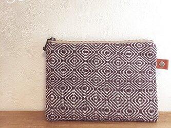 pouch[手織り小さめポーチ]マゼンダの画像