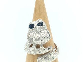 ふわり様オーダー品フクロウのリング(シルバー925)の画像