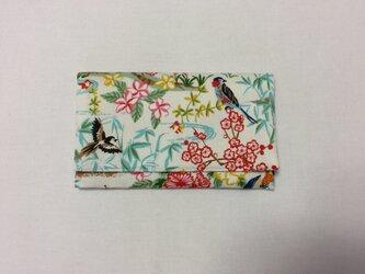 懐紙、通帳いれ Flower flower blueの画像