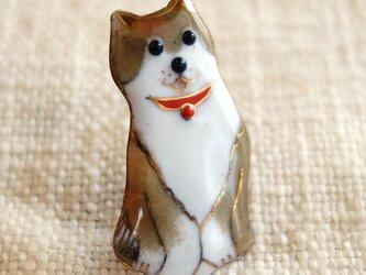七宝焼ブローチ 柴犬 1の画像
