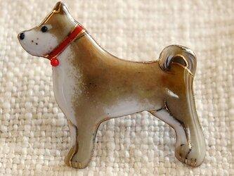 七宝焼ブローチ 柴犬 2の画像
