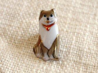 七宝焼ピンブローチ(ピンバッジ,ピンズ) 柴犬1の画像