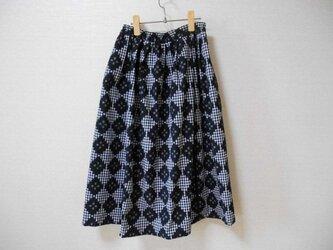 再販★新品★久留米絣の可愛いスカートの画像