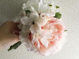 pink × whiteミニブーケ -Liberty bouquet-の画像
