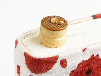 寄木の分厚めホットケーキしおり(ブックマーカー)の画像