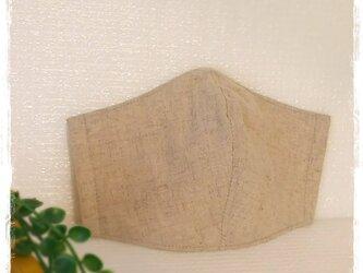 (LL)ハーフリネン◆ワイヤ入り立体マスクの画像