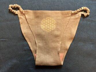 1 ウエスト ゴムのふんどしパンツ   ⁂ゴム固定型 ⁂スリムビキニ型⁂ flower of lifeの画像